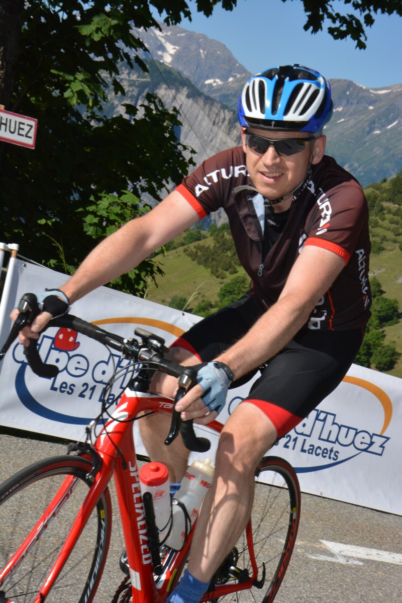 Steve Gordon, Alpe d'huez, July 2014.